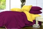 Комплект однотонного постельного белья из сатина Калипсо