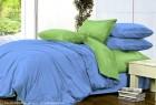 Комплект однотонного постельного белья из сатина Леда