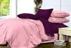 Комплект однотонного постельного белья из сатина Вербена