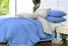 Комплект однотонного постельного белья из сатина Лантана
