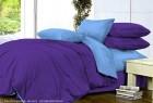 Комплект однотонного постельного белья из сатина Эйва