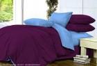 Комплект однотонного постельного белья из сатина Гортензия