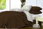 Комплект однотонного постельного белья из сатина Бианка