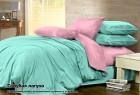 Комплект однотонного постельного белья из сатина 100% хлопок Голубая лагуна