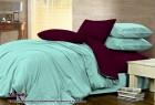Комплект однотонного постельного белья из сатина 100% хлопок Малибу