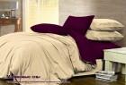 Комплект однотонного постельного белья из сатина 100% хлопок Малиновые сны