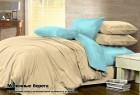 Комплект однотонного постельного белья из сатина 100% хлопок Молочные берега