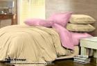 Комплект однотонного постельного белья из сатина 100% хлопок Пина Колада