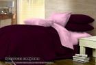 Комплект однотонного постельного белья из сатина 100% хлопок Цветочная симфония