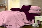 Комплект однотонного постельного белья из сатина 100% хлопок Ягодный мусс